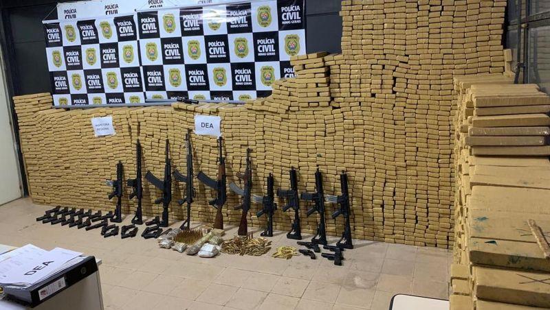 Delegados de Juiz de Fora falam sobre importância da maior apreensão de drogas e armas de Minas Gerais