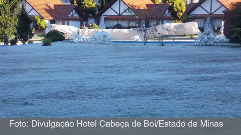 Minas Gerais registra temperatura abaixo de zero
