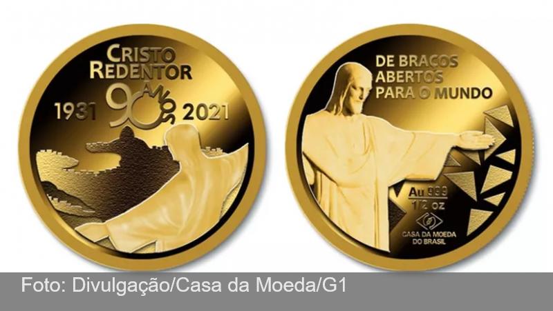 Casa da Moeda lança medalha em comemoração aos 90 anos do Cristo Redentor