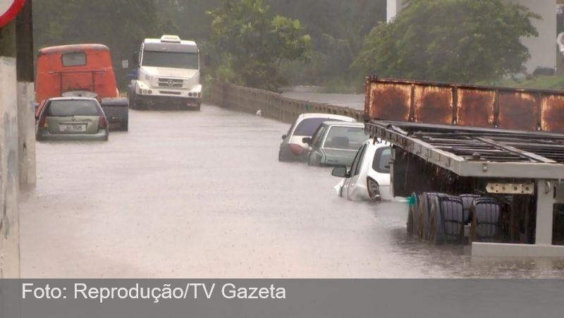 Chuva forte deixa desabrigados e desalojados no Espírito Santo