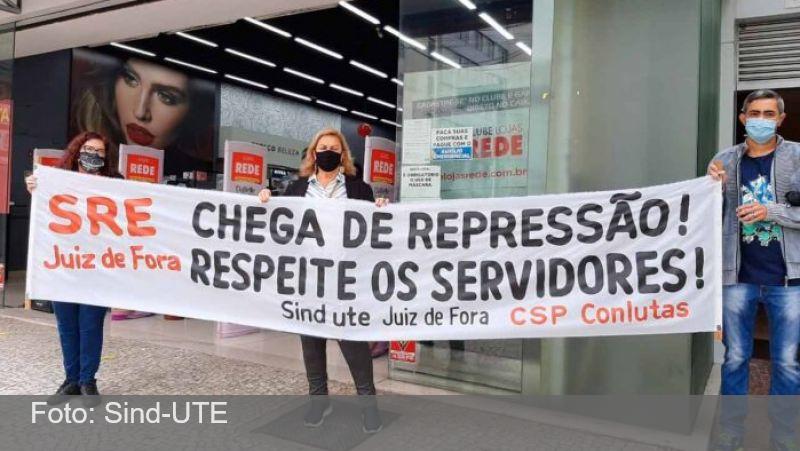 JF: Sind-UTE realiza manifestação contra projeto de municipalização do ensino