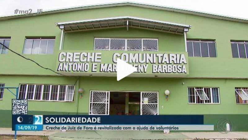 Creche é revitalizada com ajuda de 25 voluntários em Juiz de Fora
