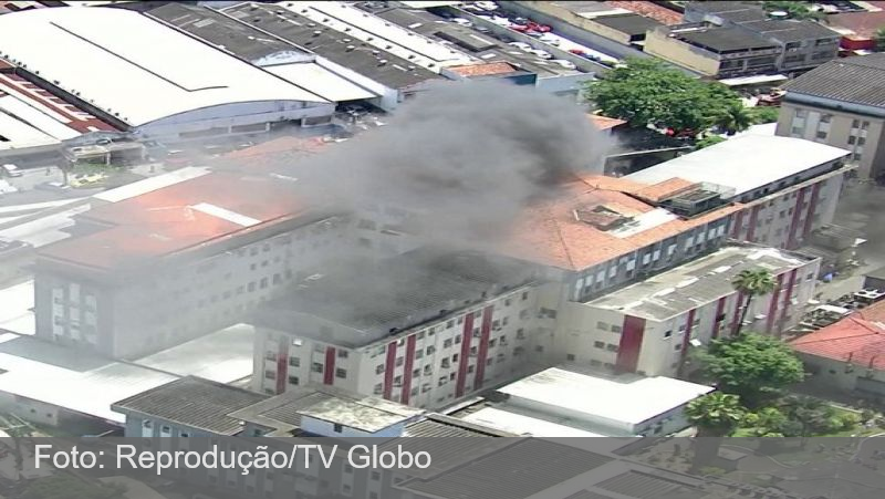 Incêndio atinge hospital no Rio, e 200 pacientes são transferidos