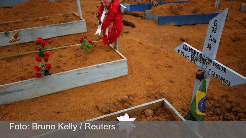 Com 1910 novos óbitos, Brasil bate recorde de mortes por covid pelo 2º dia seguido