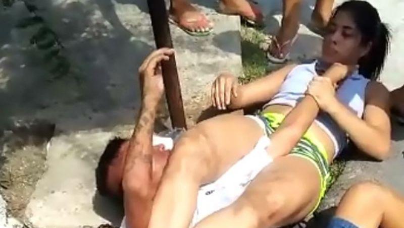 Mulher imobiliza homem com chave de braço após sofrer tentativa de assalto, no AM; veja vídeo