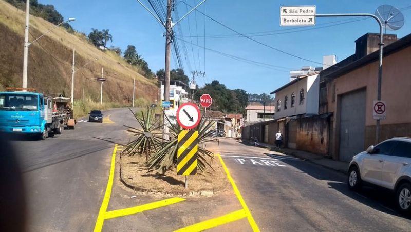 Settra/JF conclui revitalização da sinalização de trânsito no Bairro Borboleta