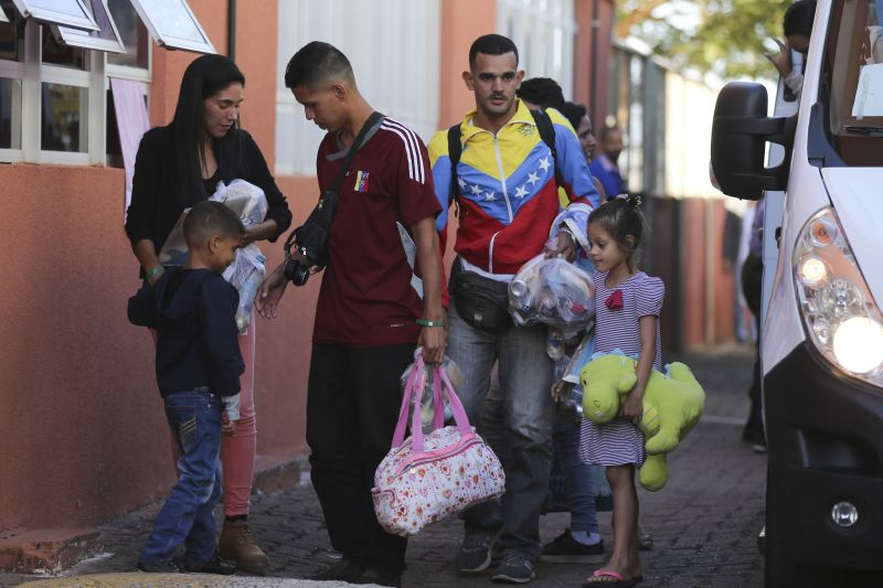 Resultado de imagem para venezuelanos em brasilia