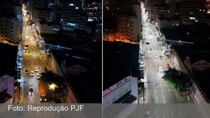 Prefeitura de JF reestrutura iluminação pública na Avenida Getúlio Vargas