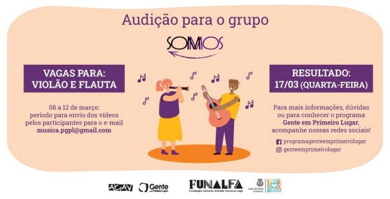 """Funalfa abre audições para o """"Grupo Somos"""""""