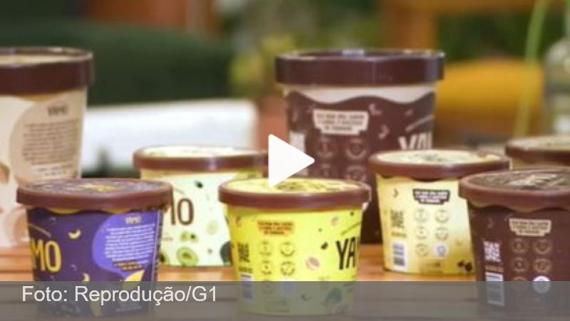 Startup mineira cria sorvete sem leite feito com inhame