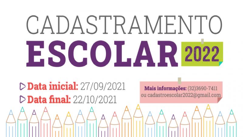 Cadastramento Escolar 2022 para rede municipal está disponível no site da PJF