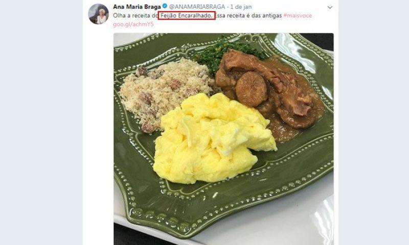 Ana Maria Braga bomba na Web ao postar receita com nome inusitado