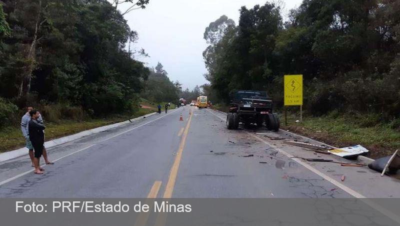 Seis pessoas ficam feridas em acidente com ônibus que saiu de Minas
