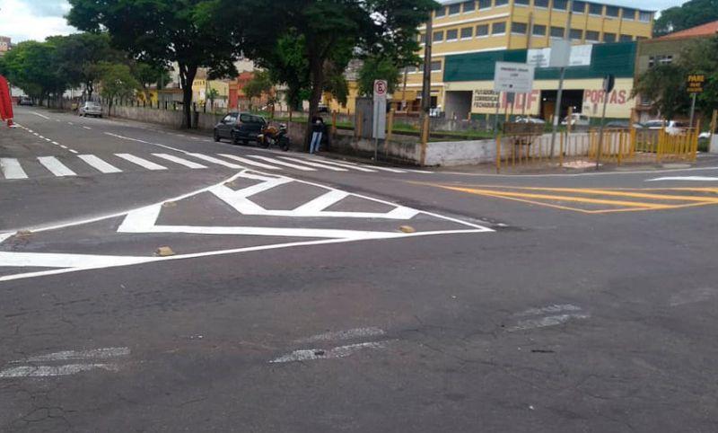 Settra/JF realiza revitalização de sinalização horizontal no Poço Rico