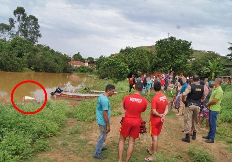 Bombeiros encontram corpo do homem que se afogou no Rio Muriaé