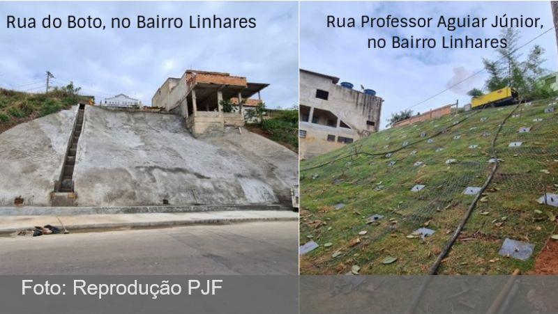 JF: Secretaria de Obras finaliza contenção de encostas no Linhares