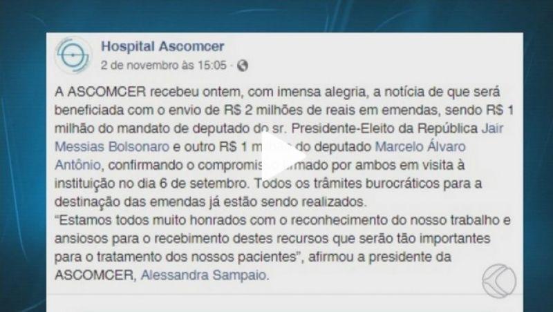 Eleitores do Bolsonaro se mobilizam para fazer doações para a Santa Casa de Juiz de Fora