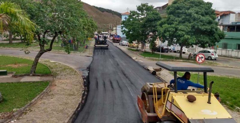 PJF realiza pavimentação nos bairros Marilândia, Granjas Betânia e Barbosa Lage