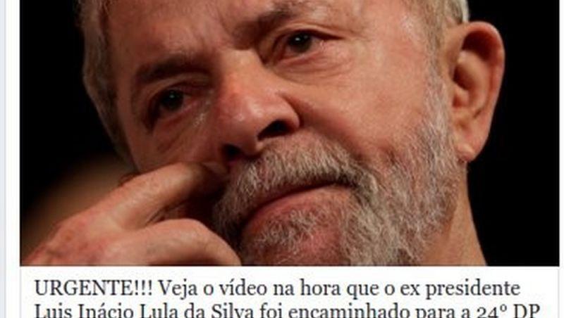 Vídeos com suposta prisão de Lula vira golpe no Facebook