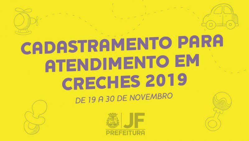 Cadastramento de creches municipais de JF começa na segunda-feira