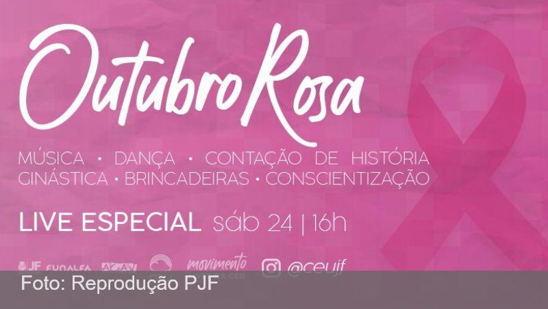 """JF: Praça CEU promove """"live"""" cultural em apoio ao """"Outubro Rosa"""""""
