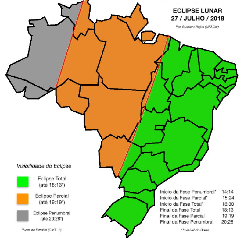 """8178b28b9 Assim que o sol sumir, as pessoas vão conseguir ver a lua avermelhada"""",  explica Brito. Em regiões mais no centro do país, como em Brasília, esse  aspecto não ..."""