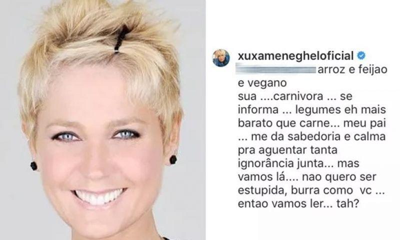 Xuxa se irrita com seguidora do padre Fábio de Melo e discute ao defender veganismo