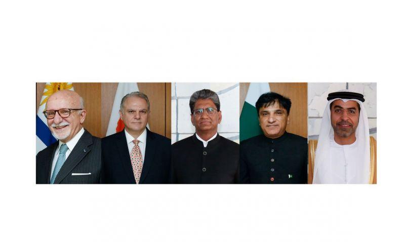 Bolsonaro recebe credenciais de cinco novos embaixadores no Brasil
