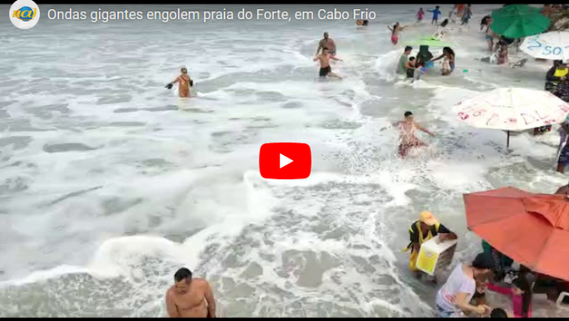 Preferidas dos mineiros, praias de Cabo Frio e Guarapari são engolidas por ressaca; vídeo