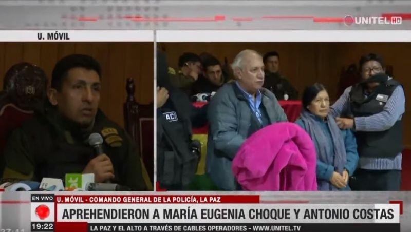 Ex-presidente do Supremo Tribunal Eleitoral da Bolívia é presa e exibida algemada