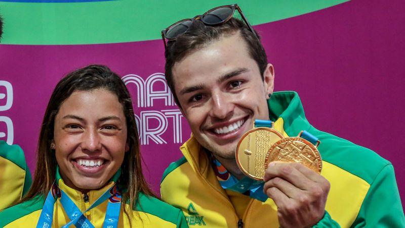 Chuva de medalhas! Com mais sete ouros e 16 pódios no total, Brasil vira segundo no quadro