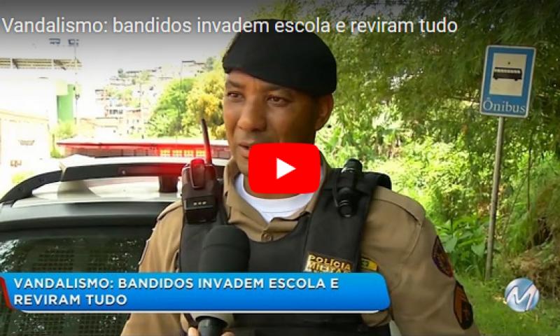 Vandalismo: bandidos invadem escola em Juiz de Fora e reviram tudo