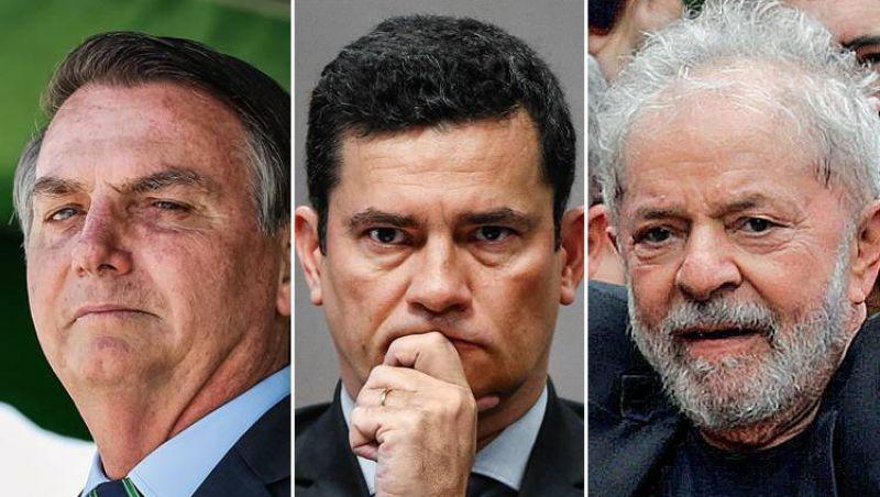 Bolsonaro empata com Lula no 1° turno; Moro supera com folga o petista