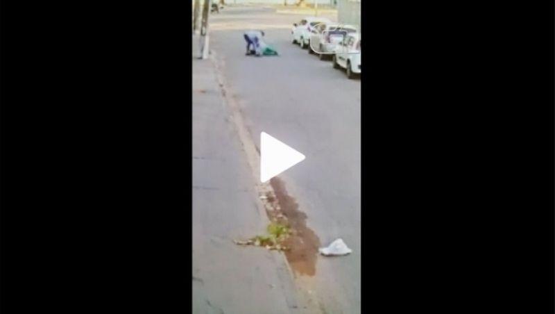 Vídeo: mulher encara ladrão durante roubo de carro em Goiânia