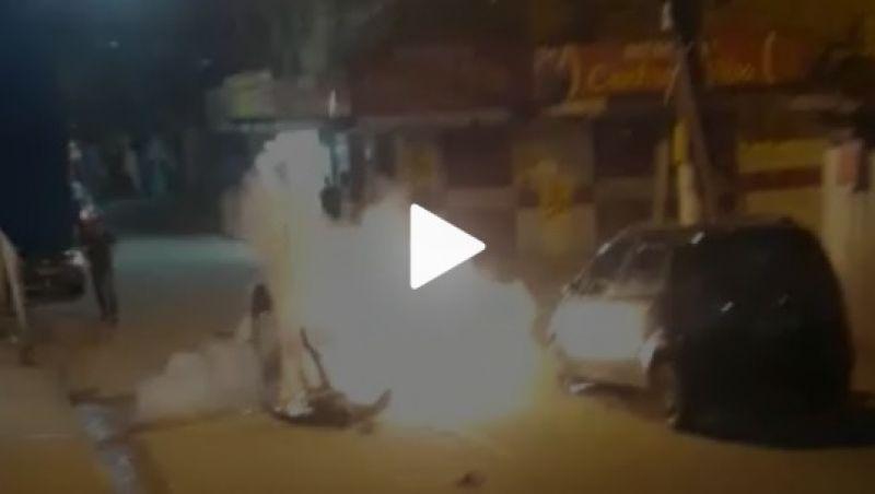Homem cai e explode granada que estava no bolso no RJ; vídeo