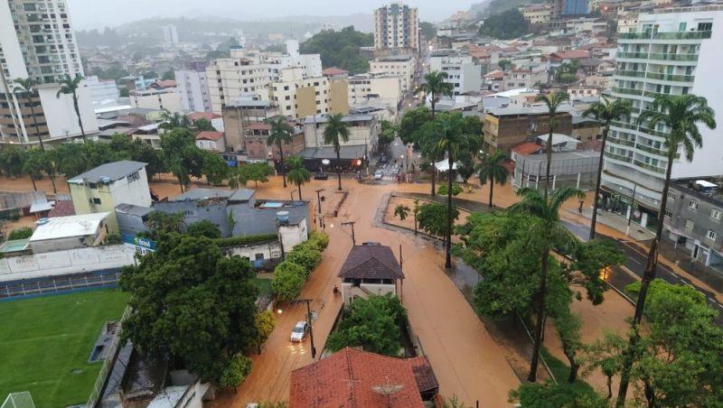 Ubá está em estado de atenção devido às fortes chuvas