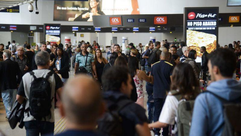 Reforma no Santos Dumont eleva movimento no Galeão, mas sem transtorno