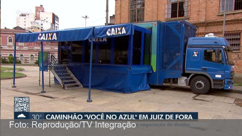 Unidade móvel da Caixa Econômica é instalada em Juiz de Fora