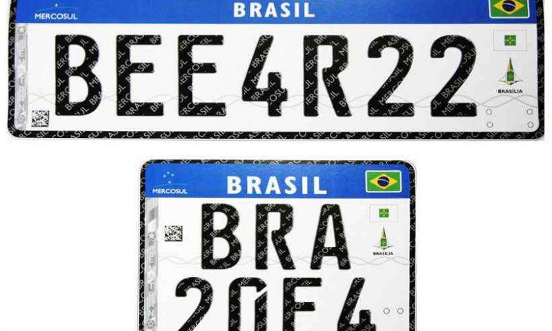Implantação das placas do Mercosul em Minas Gerais é adiada