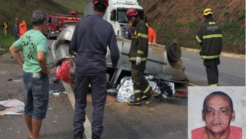 Acidente na BR-116 em Muriaé deixa um morto e quatro feridos
