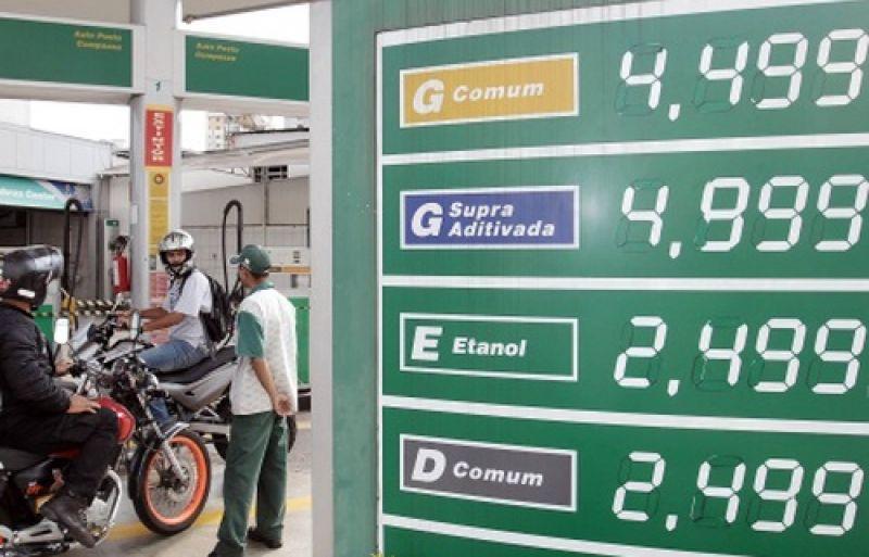 Preço da gasolina sobe novamente nesta quarta-feira