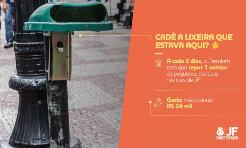 PJF inicia campanha contra o vandalismo e pelo bom uso dos espaços públicos