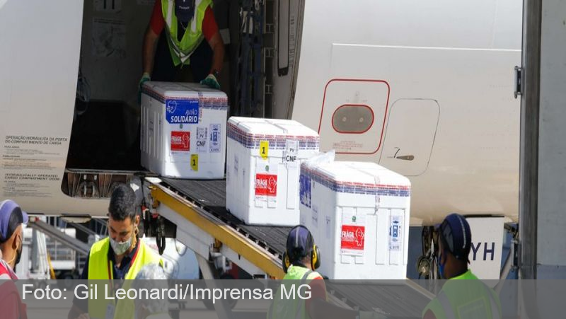 Minas Gerais recebe 285,2 mil doses de vacinas contra covid-19