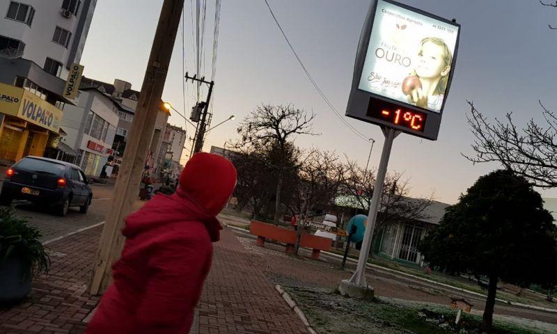 Cidades de SC ficam abaixo de zero e Urupema chega a -5,6°C; FOTOS